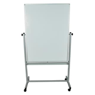 Offex Double Sided Magnetic Reversible Dry Erase Easel Whiteboard with Casters
