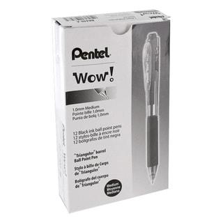 Pentel WOW! Medium Tip Ballpoint Pen (Pack of 12)