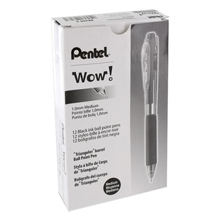 Pentel WOW! Medium Tip Ballpoint Pen (Pack of 12)