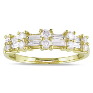 Miadora 10k Yellow Gold 1/2ct Diamond Ring (H-I, I2-I3)
