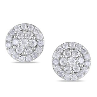 Miadora Sterling Silver 1ct TDW Diamond Earrings (H-I, I2-I3)