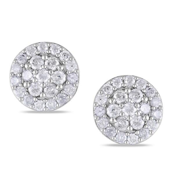Miadora Sterling Silver 1ct TDW Diamond Earrings (H-I, I2-I3)