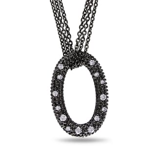 Miadora Sterling Silver 1/5ct TDW Diamond Necklace (G-H, I1-I2)