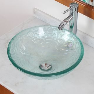CAE Tempered Glass Sink with Faucet