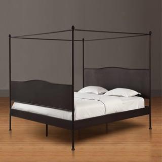 Renate Canopy Antique Brown Queen Size Bed Overstock