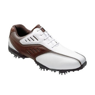 FootJoy Men's FJ Sreet LoPro White/ Brown Golf Shoes