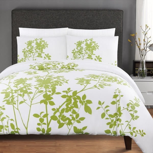 Echelon Home Silent Woods Cotton 3-piece Duvet Cover Set