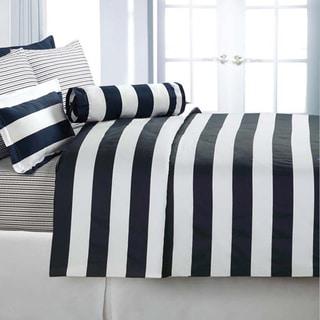 Cabana Stripe Cotton Sateen 3-piece Duvet Cover Set