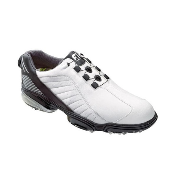 FootJoy Men's FJ Sport White/ Black/ Silver Golf Shoes with BOA Lacing System