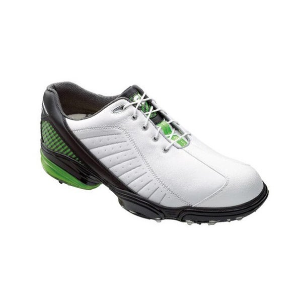 FootJoy Men's FJ Sport White/ Black/ Lime Golf Shoes