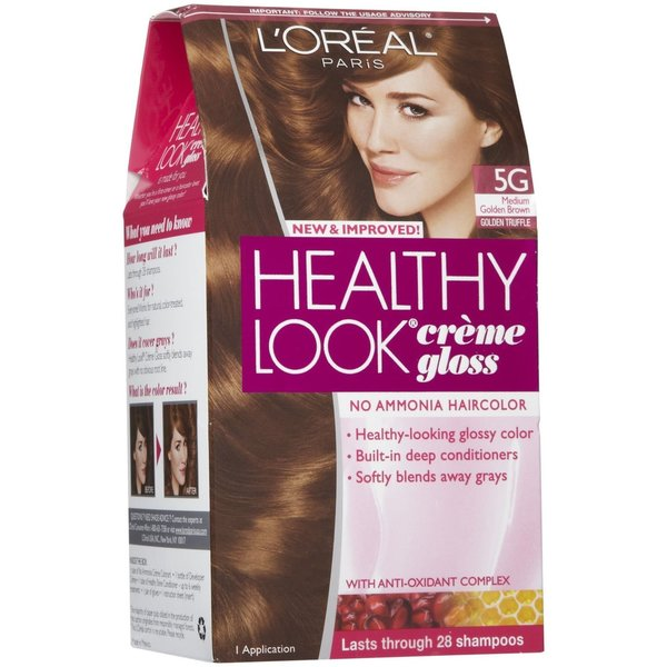 L'Oreal Healthy Look # 5G Medium Golden Brown Creme Gloss Color