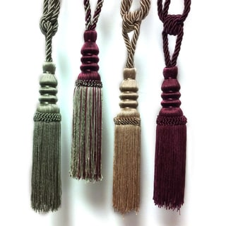 Decorative Tiebacks with Tassels (Set of 2)