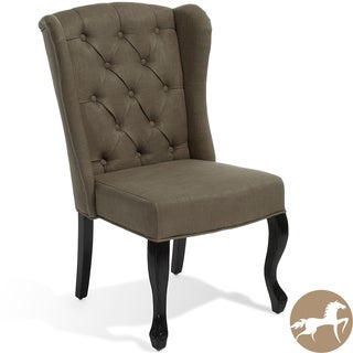Christopher Knight Home Olivier Tufted Brown Fabric Accent Chair