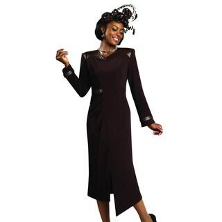 Lisa Rene Women's Leather Trim Dress