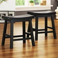 Saddle Seat 18-inch Black Barstools (Set of 2)