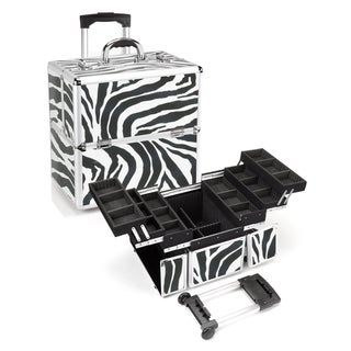 Seya Zebra Rolling Makeup Case with Detachable Trolley