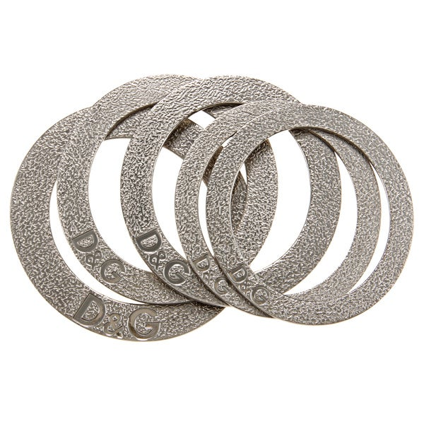 Dolce & Gabbana Stainless Steel Hammered Bracelets (Set of 5)