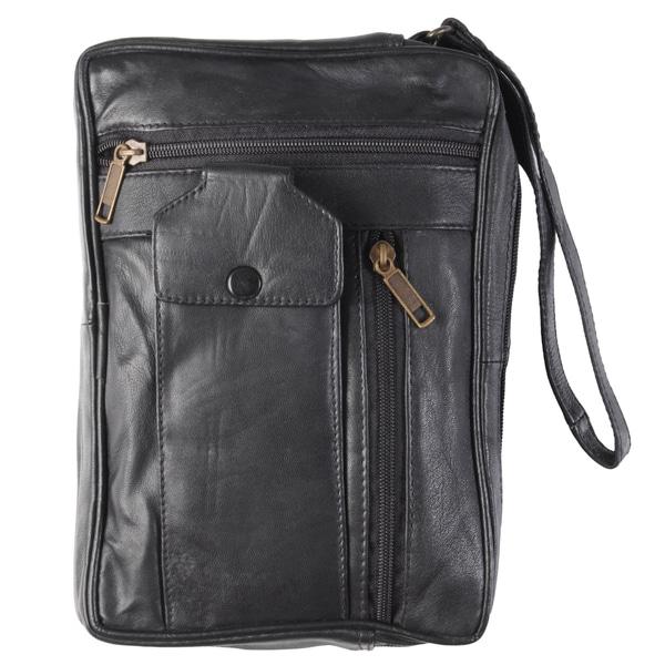 Journee Collection Women's Multi-pocket Leather Clutch w/ Wristlet