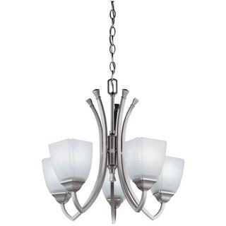 Lithonia Lighting 'Piedmont' 5-light Antique Brushed Nickel Chandelier