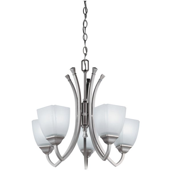 Lithonia Lighting 'Piedmont' 5-light Antique Brushed Nickel Chandelier