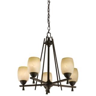 Lithonia Lighting 'Ferros' 5-light Antique Bronze Chandelier