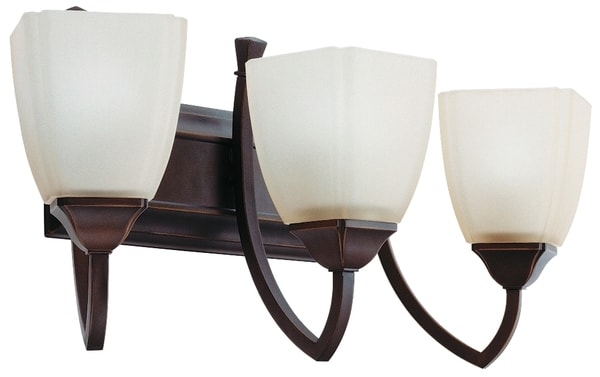Lithonia Lighting 'Piedmont' 3-light Antique Bronze Wall Sconce