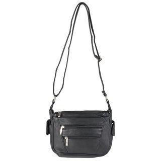 Journee Collection Women's Multi-pocket Leather Crossbody Handbag