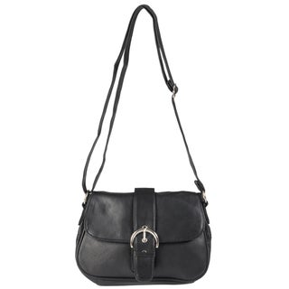 Journee Collection Women's Leather Crossbody Handbag