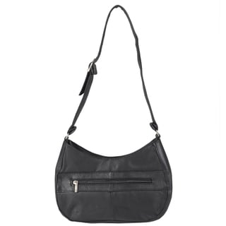 Journee Collection Women's Topstitched Leather Shoulder Bag