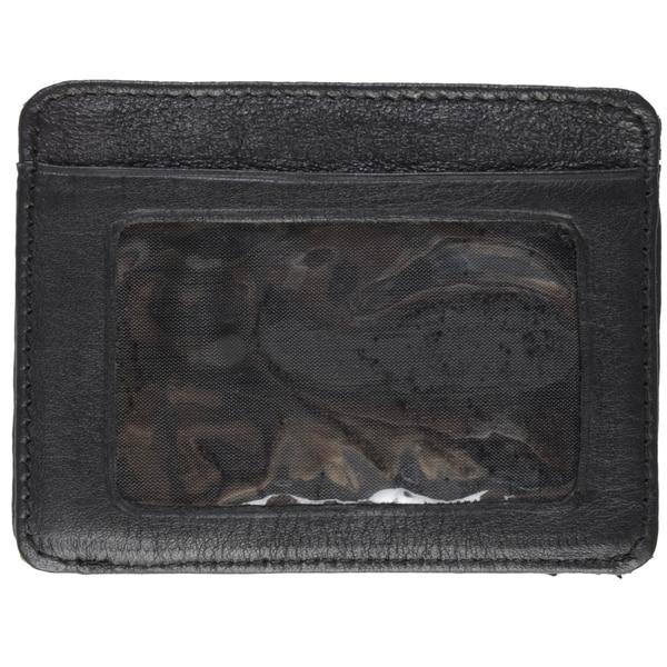 Boston Traveler Men's Leather Credit Card Holder