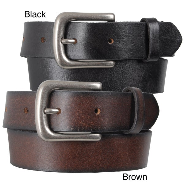 Journee Collection Kid's Vintage Distressed Leather Belt