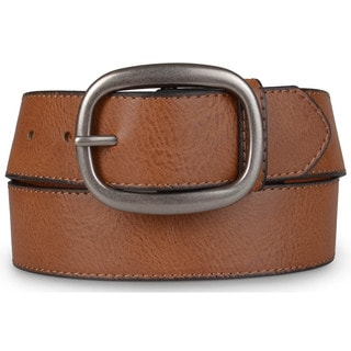 Journee Collection Women&#39;s Oil-Tanned Genuine Leather Belt