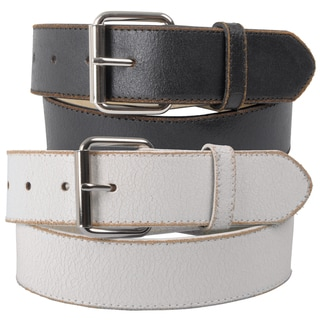 Journee Collection Women's Vintage Distressed Genuine Leather Belt