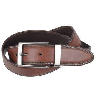 Geoffrey Beene Men's Black/Brown Reversible Leather Belt