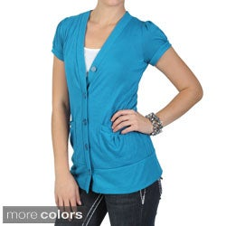 Tressa Designs Juniors Contemporary Plus Short-sleeve Cardigan