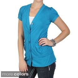 Tressa Designs Juniors Contemporary Plus Short-sleeve Cardigan