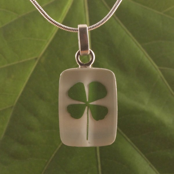 Sterling Silver Four Leaf Clover Necklace (Mexico)