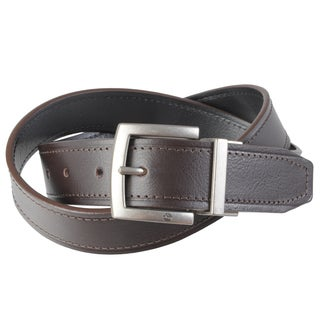 Timberland Men's Cut Edge Topstitched Reversible Belt