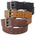Journee Collection Women's Two Row Cut-out Genuine Leather Belt