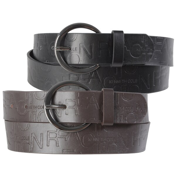Kenneth Cole Reaction Unisex Casual Embossed Belt