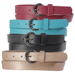 Kenneth Cole Reaction Women's Narrow Pebbled Finish Fashion Belt