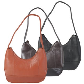 Journee Collection Women's Lambskin Leather Handbag