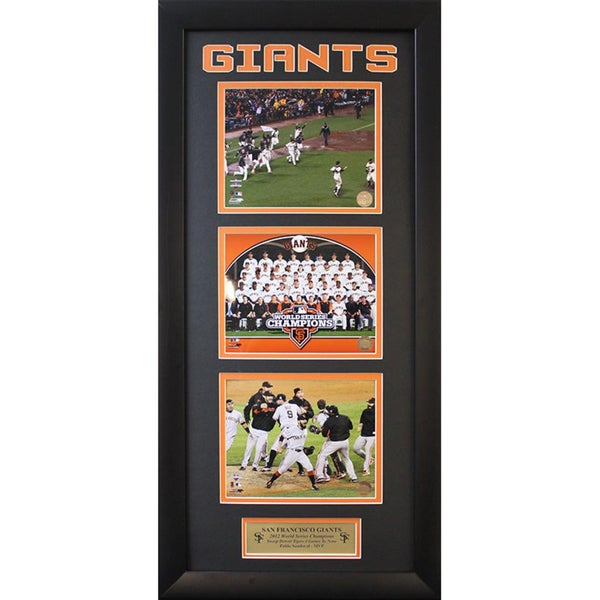 San Francisco Giants 2012 World Series Champions Three Photo Frame (15 x 35 ) 10276846