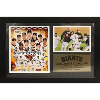 San Francisco Giants 2012 World Champion Photograph with Statistics Nested