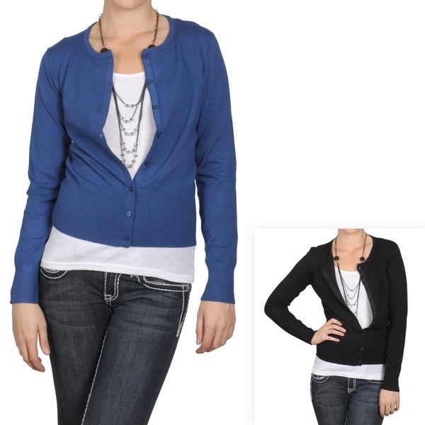 Journee Collection Women's Button-up Long-sleeve Ribbed Cardigan