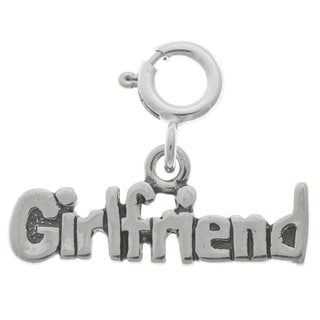 Sterling Silver Girlfriend Charm