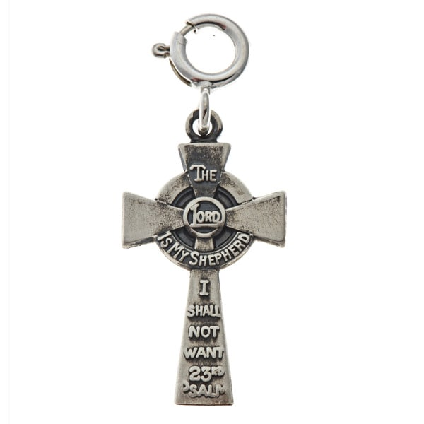 Sterling Silver Lord's Prayer Cross Charm
