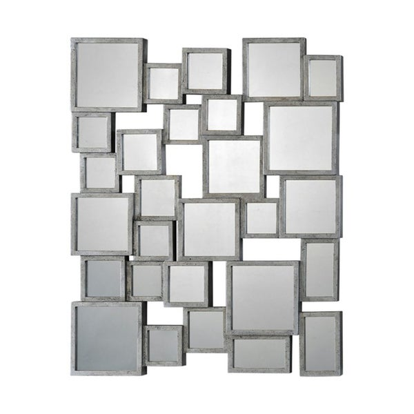'Stafford' Silver Metal Small Mirror