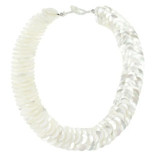 Infinity Layered White Troca Seashells Handmade Necklace (Philippines)