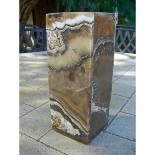 Square Marbled Alabaster Vase (Egypt)